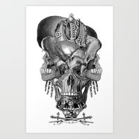 shield Art Prints featuring  Shield by DIVIDUS