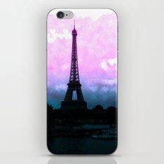 Paris Eiffel Tower : Lavender Teal iPhone & iPod Skin