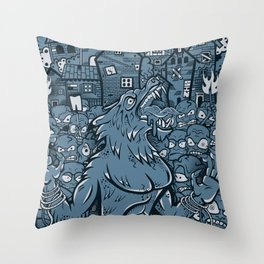 WOLVES OF PERIGORD Throw Pillow