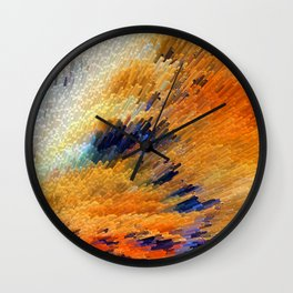 Odyssey - Abstract Art By Sharon Cummings Wall Clock