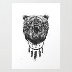 Don't wake the bear Art Print
