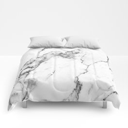 White Marble I Comforters