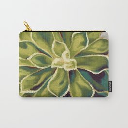 Renewed, Echeveria Succulent Plant Painting Carry-All Pouch