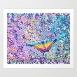 Vibrant Little Butterfly Art Print