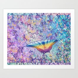 Vibrant Little Butterfly Art Print