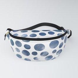 Dots - Blue Denim watercolor Fanny Pack