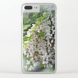white flowers in my garden Clear iPhone Case