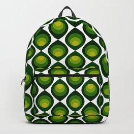 Retro petals design - Shade of green Backpack