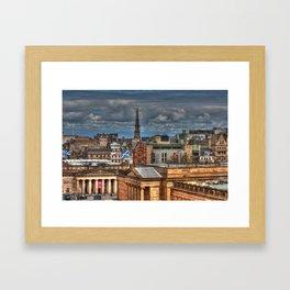 Edinburgh Roof Tops Framed Art Print