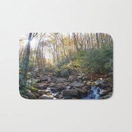 Boone Fork Creek in Autumn Bath Mat