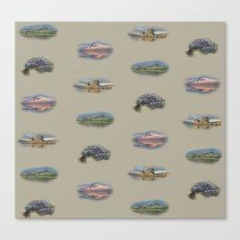 Highland landmarks in beige Canvas Print