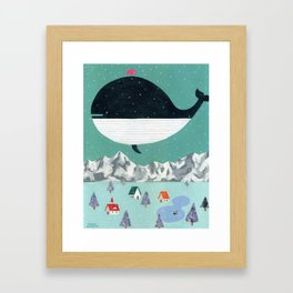 Whale in Aire Framed Art Print
