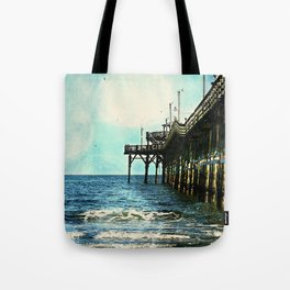 Cherry Grove SC Fishing Pier, The Other Side Tote Bag