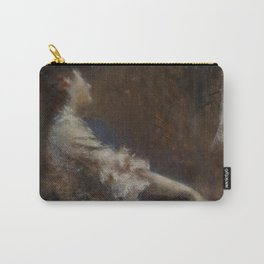 Melodia by Tranquillo Cremona - Victorian Belle Époque Retro Vintage Fine Art Carry-All Pouch