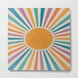 Sunshine watercolor  Metal Print