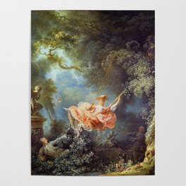Jean-Honoré Fragonard - The Swing Poster