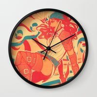 dragon age inquisition Wall Clocks featuring Dragon Age: Isabela by Sara Cuervo