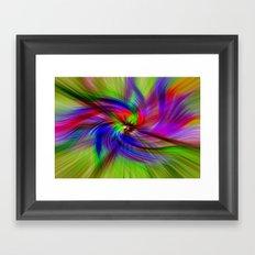Coloured Whirligig Framed Art Print