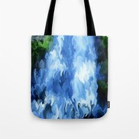 waterfall Tote Bags featuring Waterfall by Paul Kimble