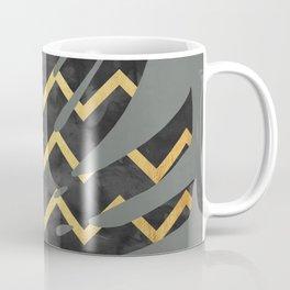 Monstera deliciosa with gold V Coffee Mug