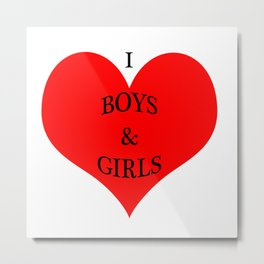 I *heart* Boys & Girls Metal Print