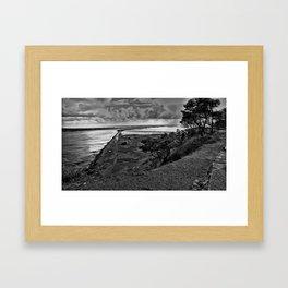 Jetty at Newport Framed Art Print
