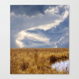 landscape 002: golden slumbers, big sky Canvas Print