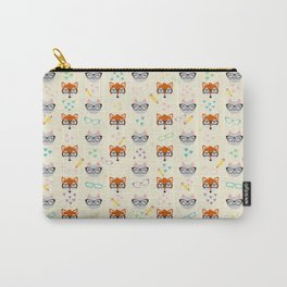Cat and Fox seamless pattern Carry-All Pouch