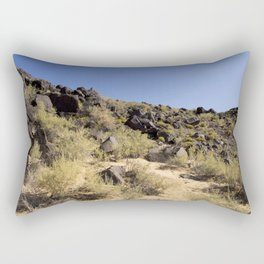 Rocky Landscape, Blue Sky Rectangular Pillow