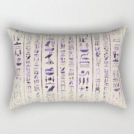 Amethyst Egyptian hieroglyphics on canvas Rectangular Pillow