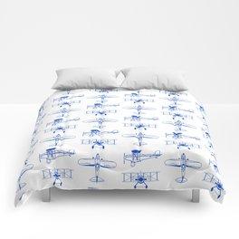 Blue Biplanes Comforters