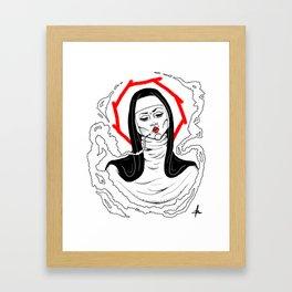 Saint Nicotine Framed Art Print