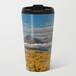 The Grand Tetons Panorama Travel Mug