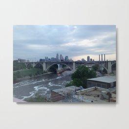 Mineapolis city skyline Metal Print
