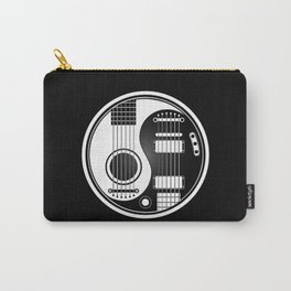 White and Black Acoustic Electric Yin Yang Guitars Carry-All Pouch