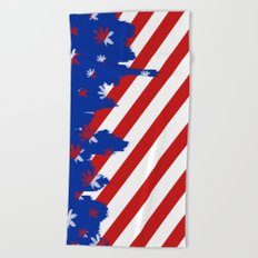 Patriotic Painting Beach Towel