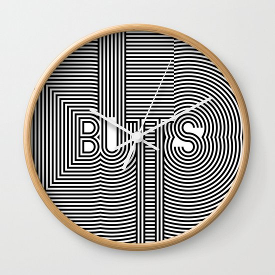 BUTTS Wall Clock