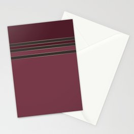 Burgundy combo pattern dark maroon Stationery Cards