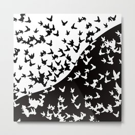 Flocks of birds. Allegory of day and night Metal Print