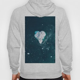 Heart of Winter - Aerial view of Icebergs in the arctic Ocean Hoody
