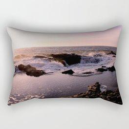 Thor's Well at Sunset Rectangular Pillow