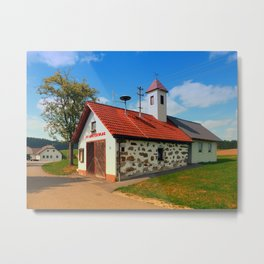 Old traditional firehouse II | architectural photography Metal Print