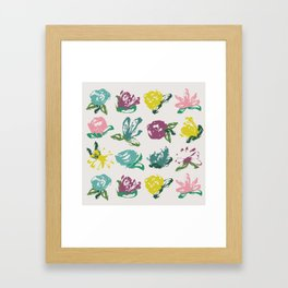Floral Brush Bouquet Framed Art Print