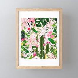 pink desert flowers Framed Mini Art Print