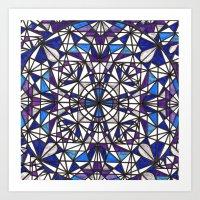 Blue purple dreams Art Print