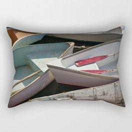 Schoodic Peninsula Boats Rectangular Pillow