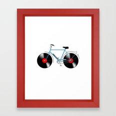 Music bike Framed Art Print