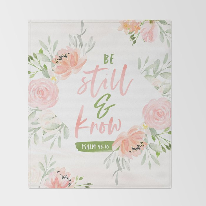 Be Still and Know Bible Verse Throw Blanket
