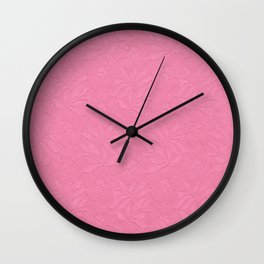 Girly trendy fuschia pink elegant floral french lace Wall Clock