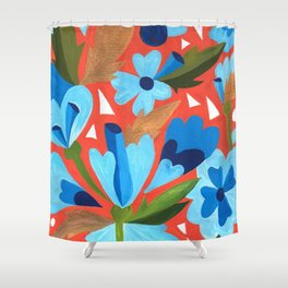 Floral Folk  Shower Curtain